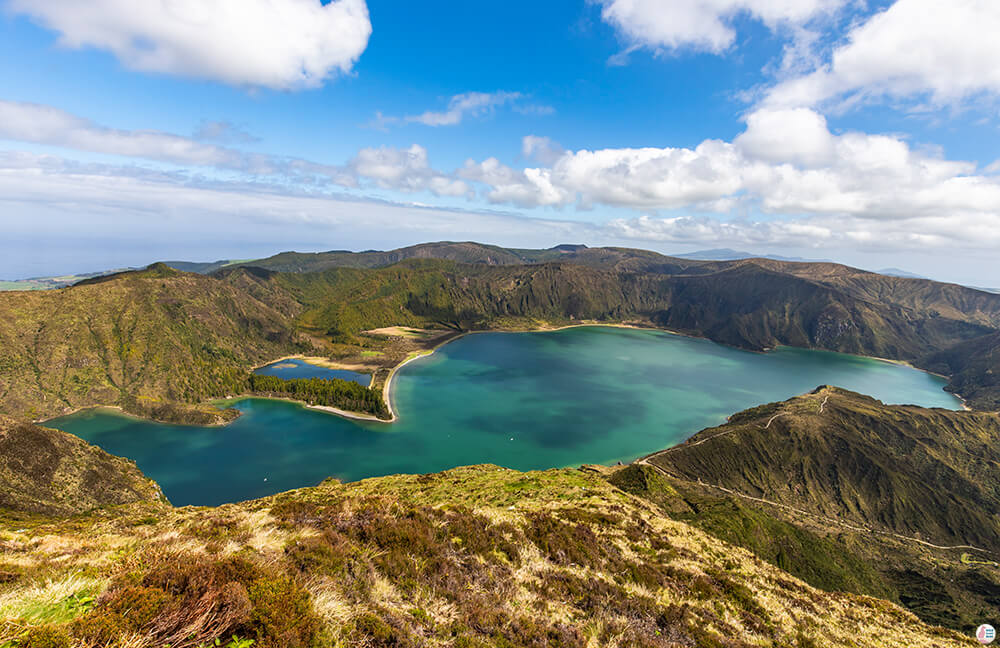Lagoa do Fogo, View from TNAC Headquarters, São Miguel Island, Azores