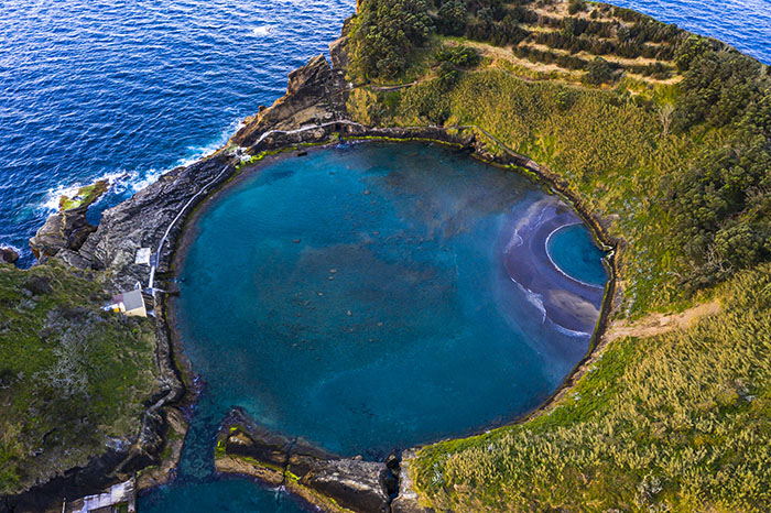 Islet of Vila Franca do Campo, Azores. Picture taken with DJI Mavic Pro 2