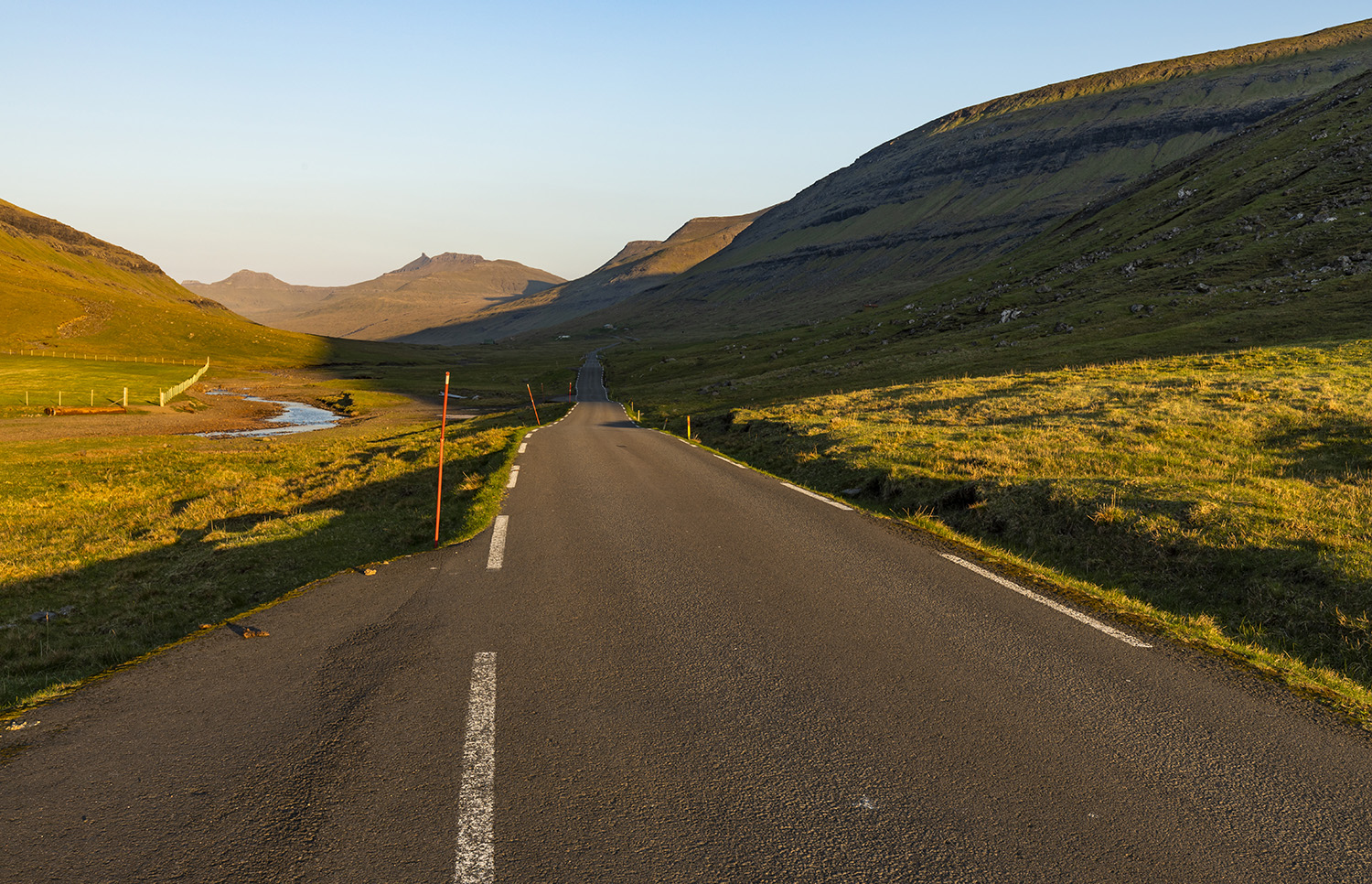 The small road to Saksun, Faroe Islands