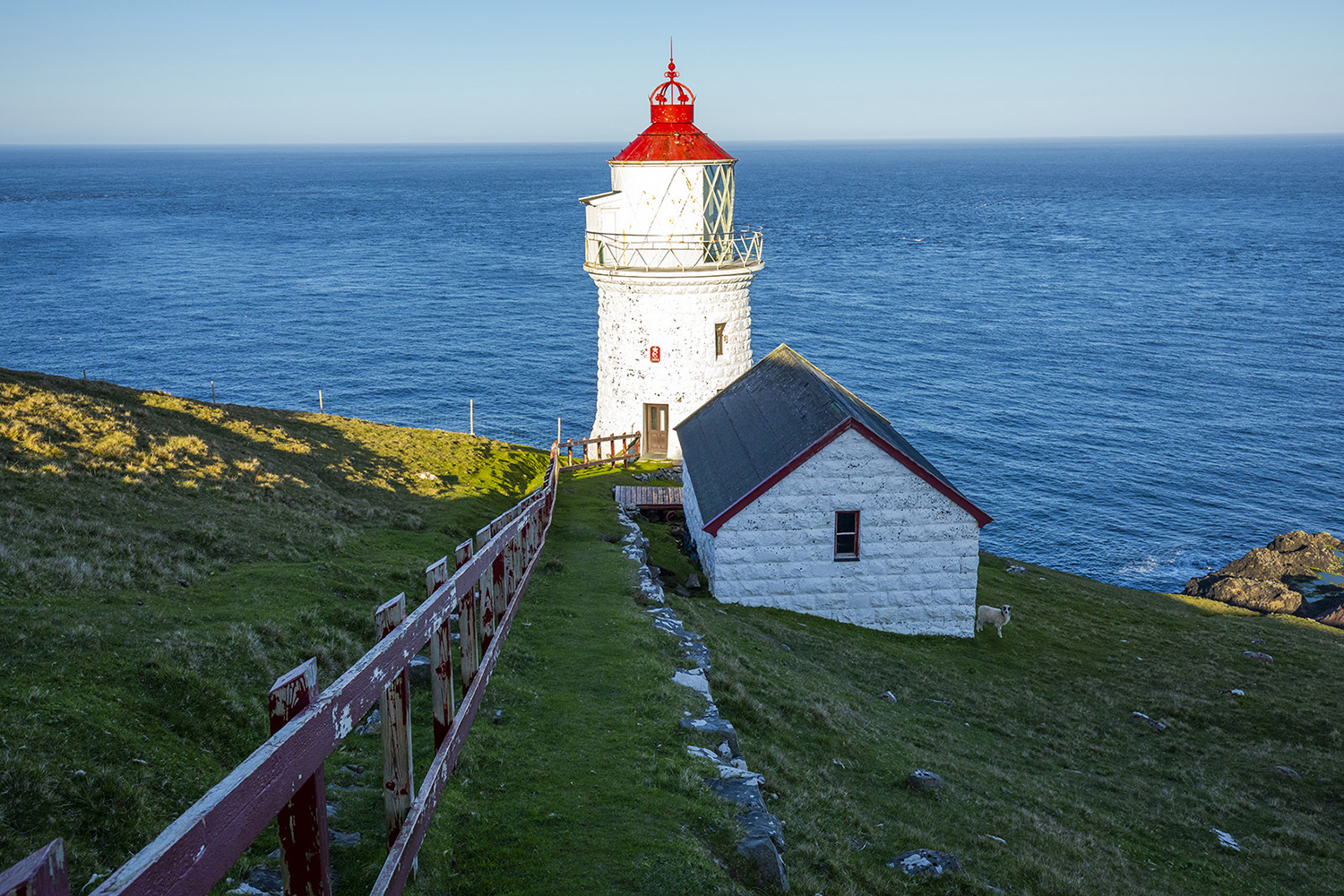 The lighthouse on Nólsoy island, Faroe Islands