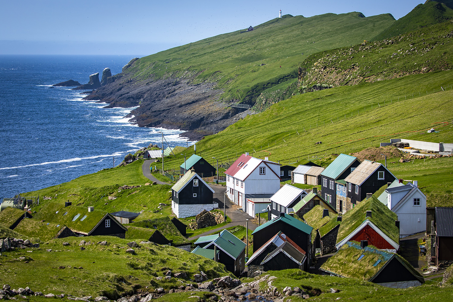 The village of Mykines, Faroe Islands