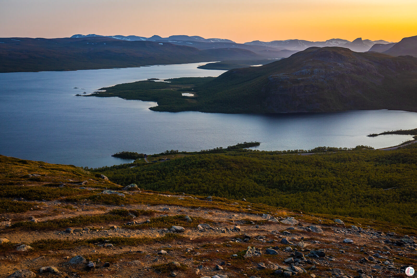 View from Saana hiking trail, Kilpisjärvi, Lapland, Finland