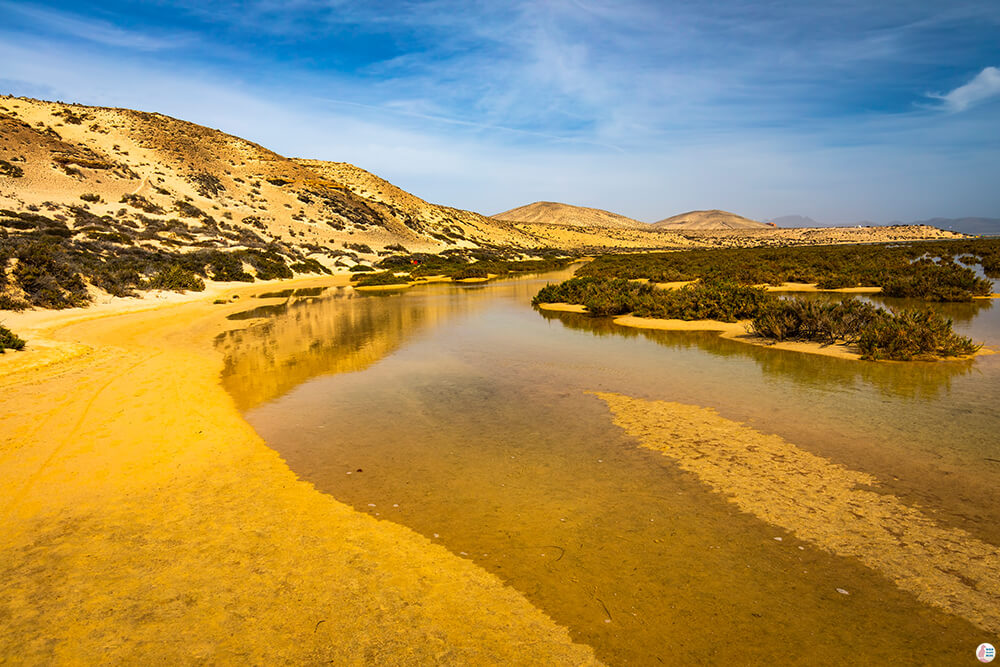 Sotavento Natural Reserve at high tide, Best Places to See and Photograph on Jandia Peninsula, Fuerteventura