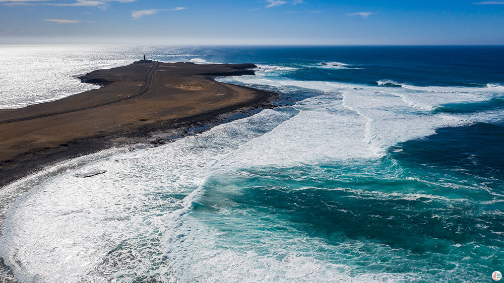 Punta Jandia Lighthouse, Drone View, Best Places to See and Photograph on Jandia Peninsula, Fuerteventura