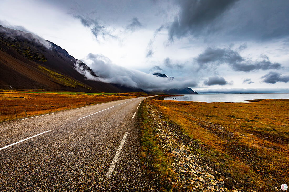 Road close to Höfn, Solo Female Traveler, Iceland