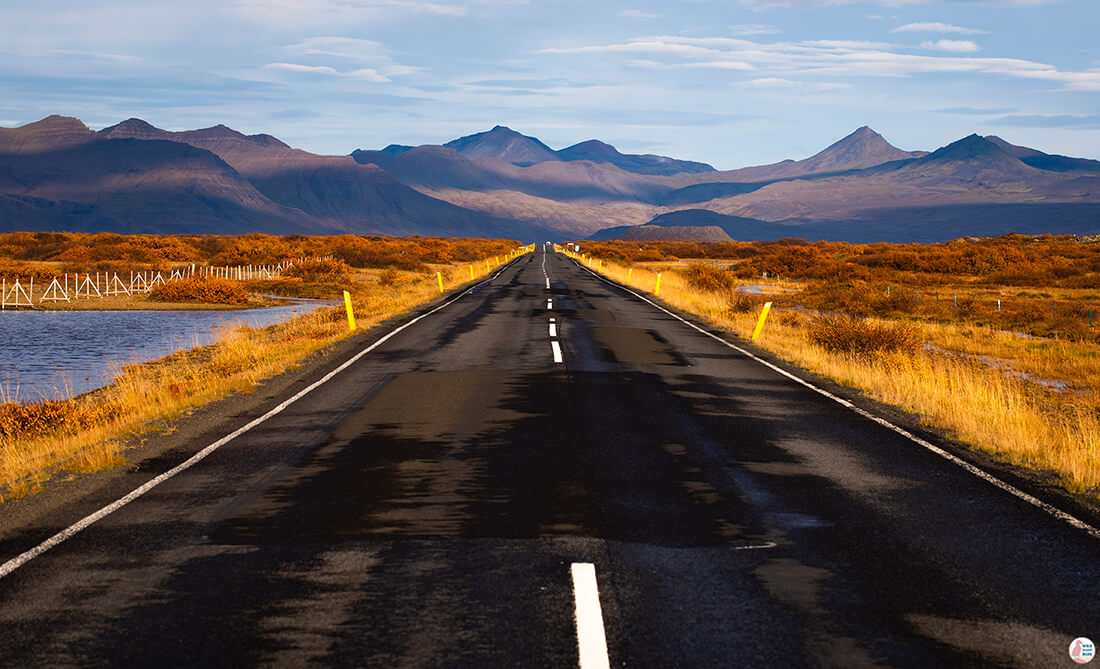 Road near Borgarnes, Solo Female Traveller, Iceland