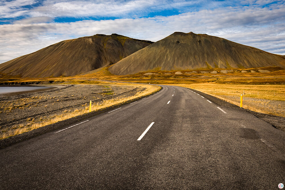 Road in Snaefellsnes Peninsula, West Iceland