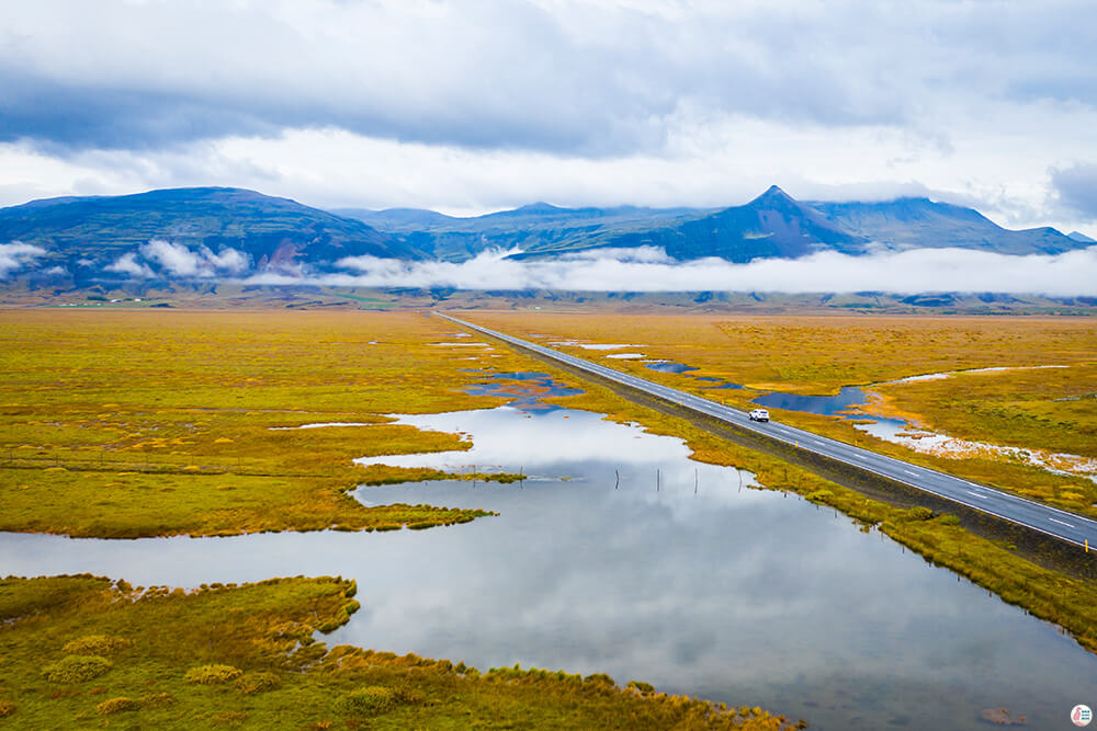 Road in South Iceland, Solo Woman Traveller, Iceland