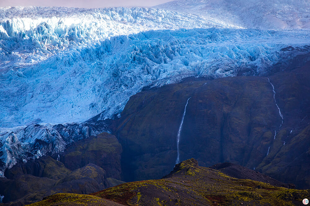 Ice Cap in the Southern Part of Vatnajökull National Park, South Iceland