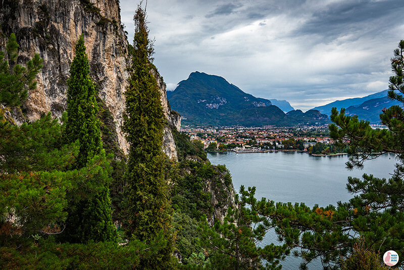 View towards Riva del Garda, Lake Garda, Italy