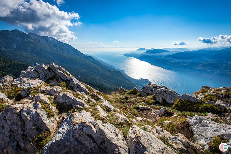 View from Monte Baldo towards Lake Garda, Italy