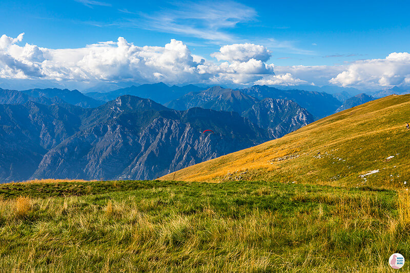 View from Monte Baldo, Lake Garda, Italy