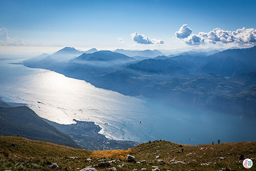 View towards Lake Garda from Monte Baldo, Italy