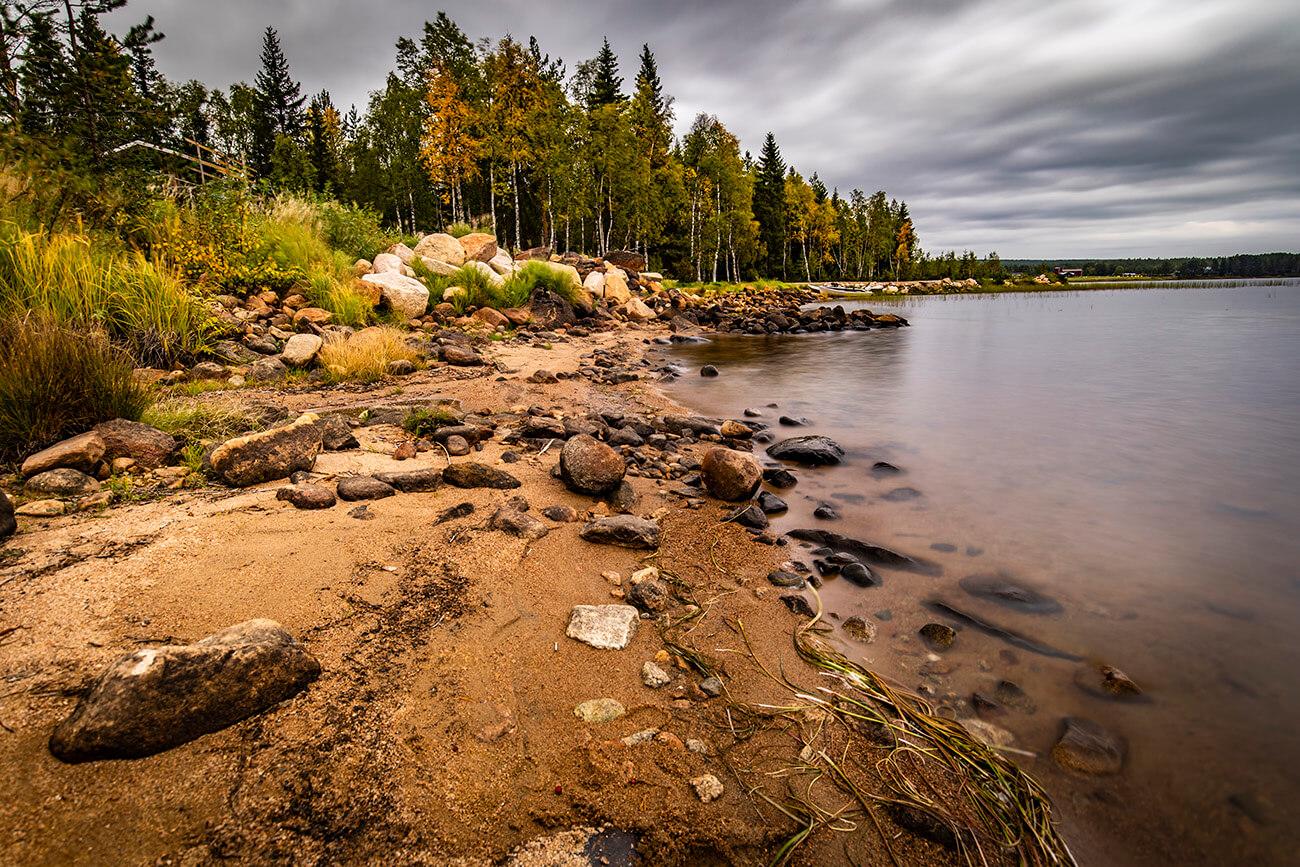 Landscape on the road to Inari, Lapland