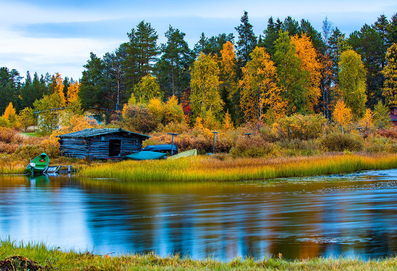A barn near by, next to Vuontislompolo river, Toras-Sieppi, Lapland, Finland