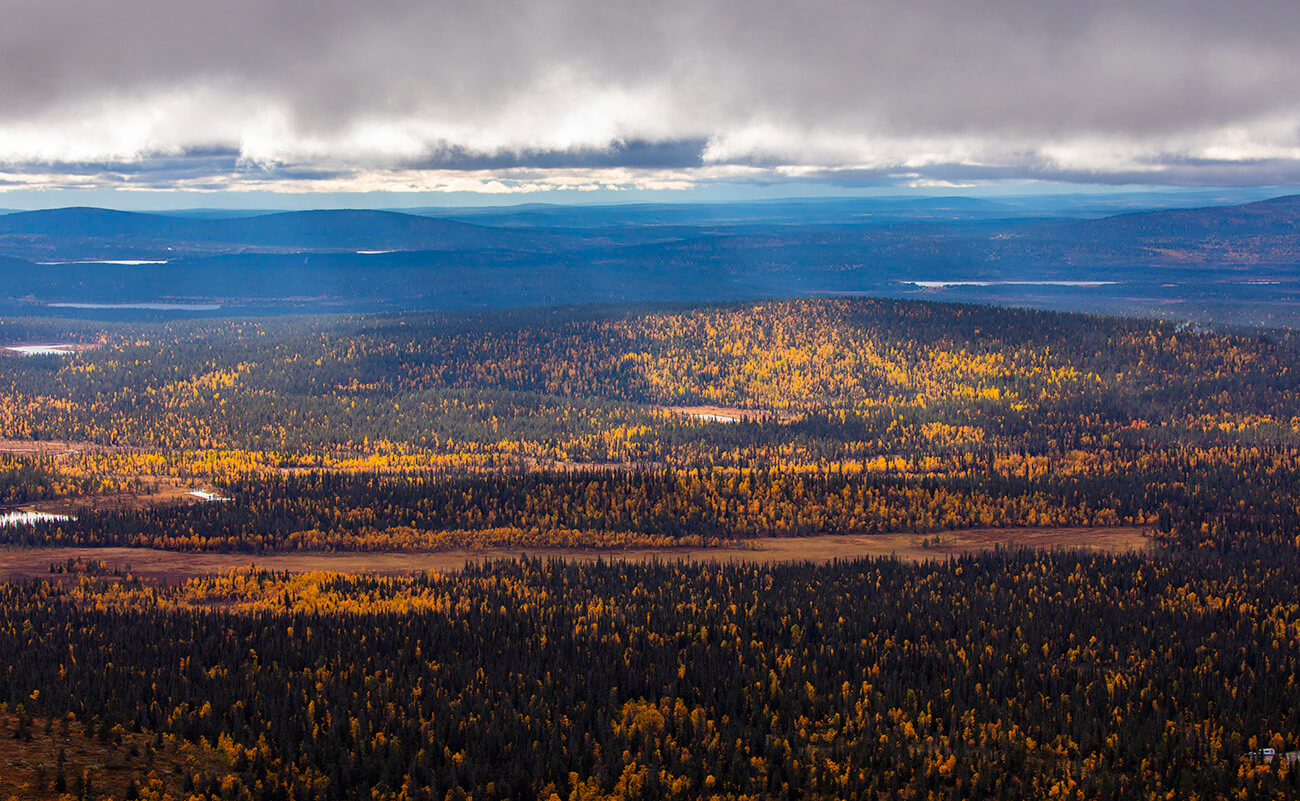 View from Pallastunturi, Muonio, Lapland