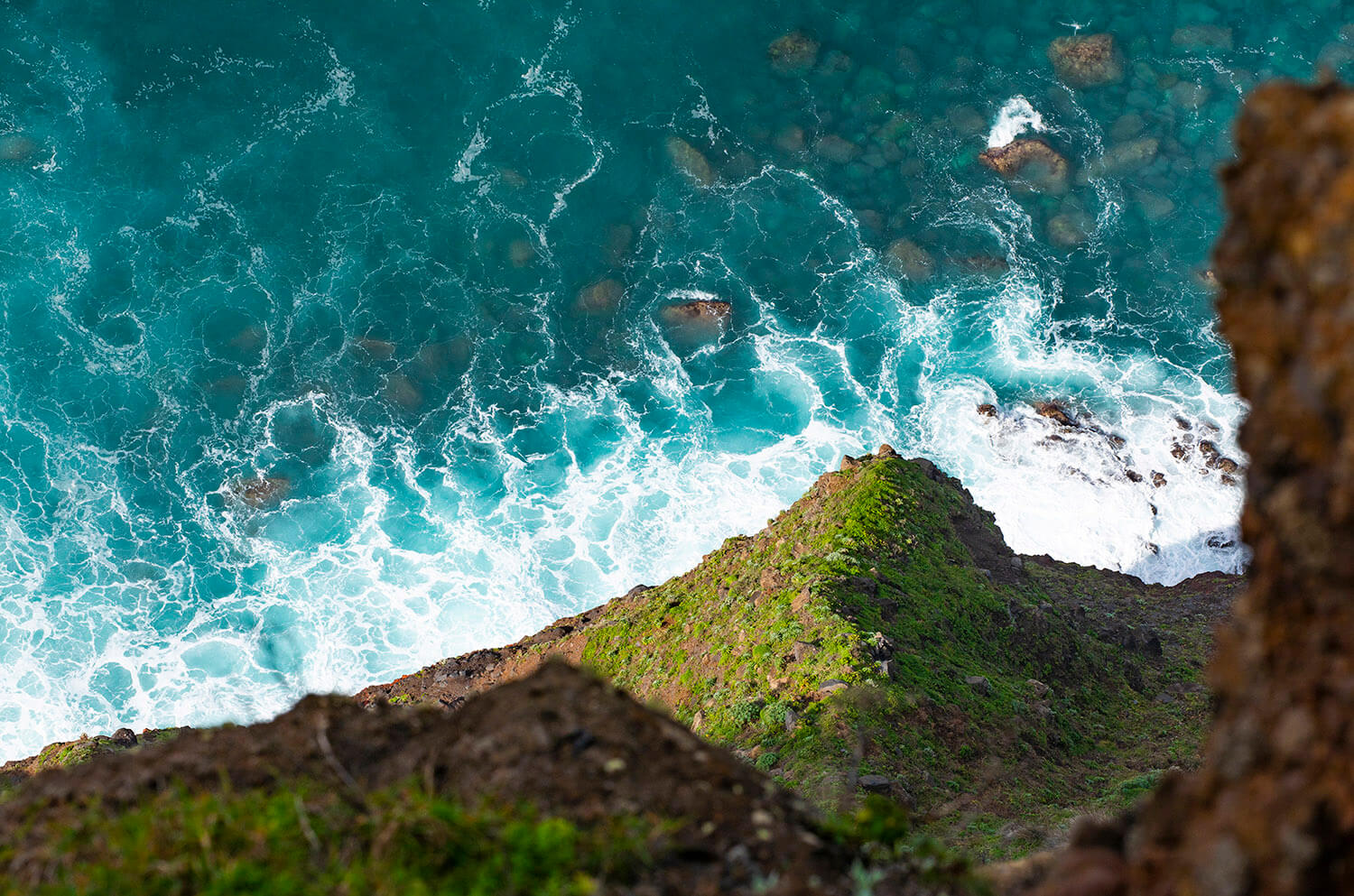 Steep cliff of the coast of Madeira