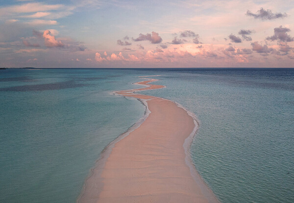 Maldives, drone picture of Kuredu Island
