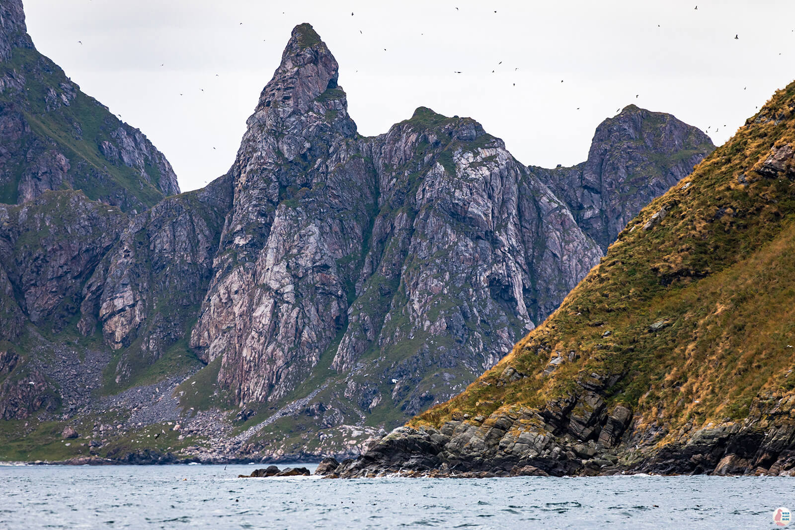 Bleiksøya and Stave cliffs around Måtinden peak, Bleik, Andøya, Northern Norway