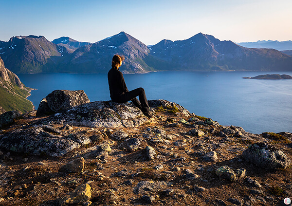 Admiring the view from Brosmetinden hiking trail, Tromvik, Northern Norway