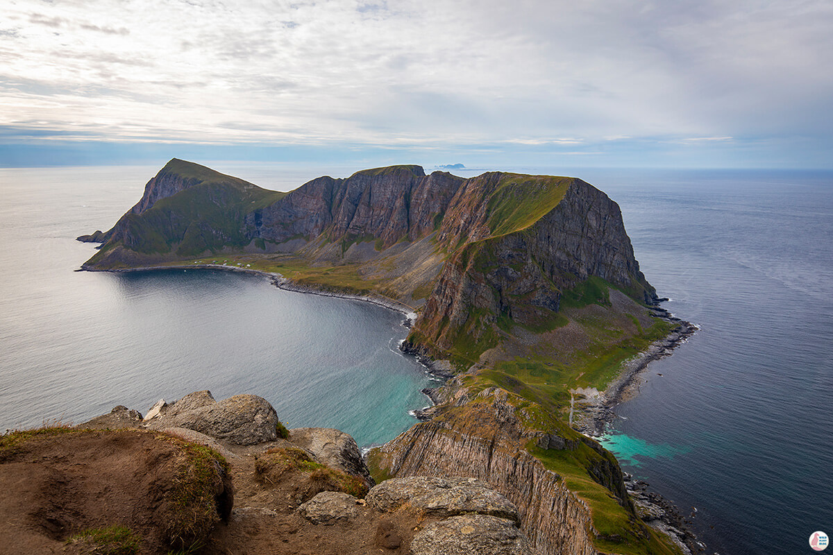Måstadfjellet viewpoint on Værøy island, Lofoten, Norway