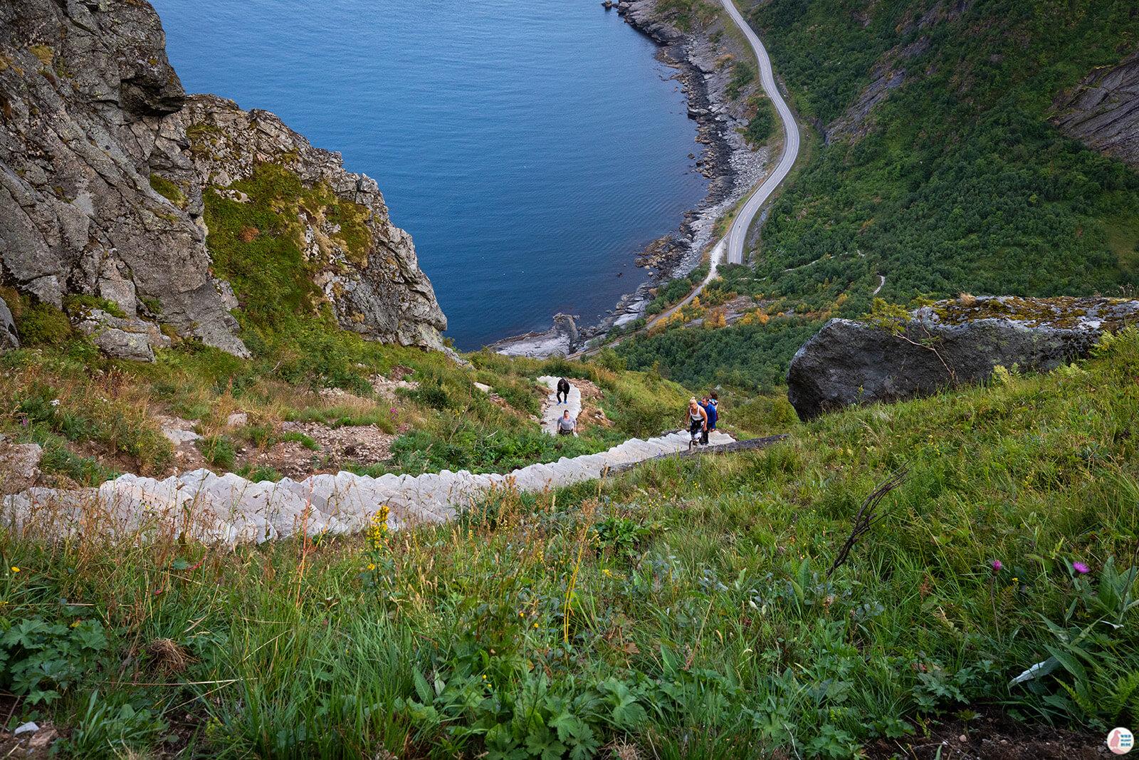 Reinebringen hiking trail, Lofoten, Northern Norway