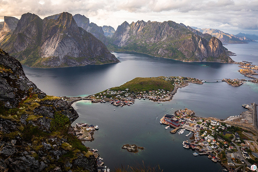 Reinebringen viewpoint, Lofoten, Northern Norway