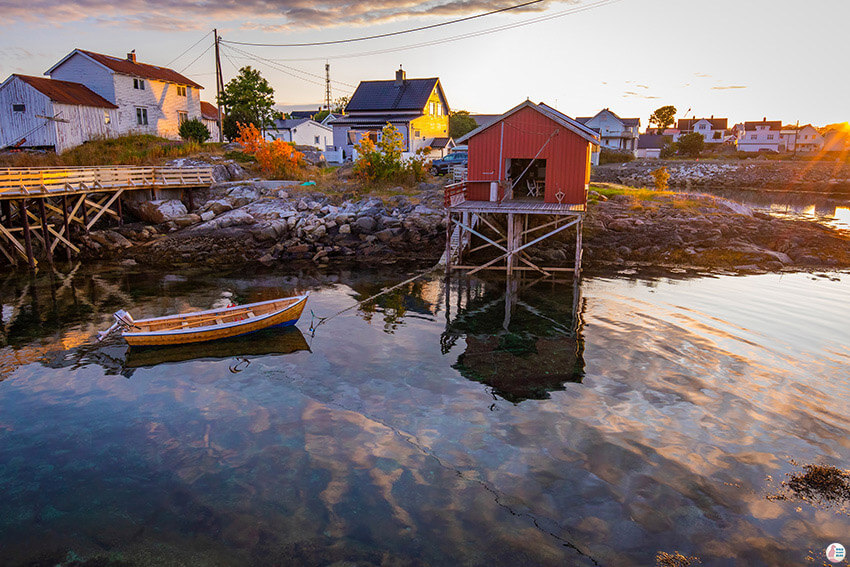 Henningsvær, photogenic fishing village in Lofoten, Norway