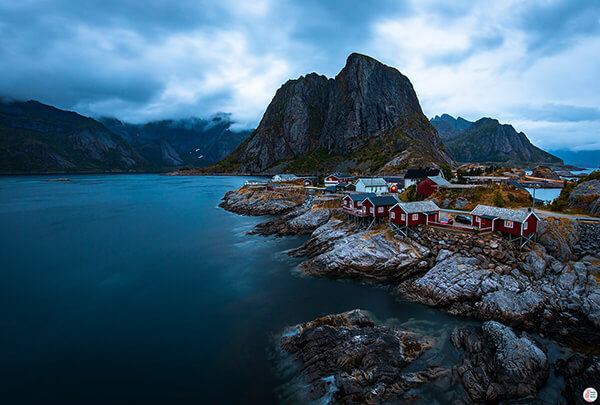 Hamnøy, beautiful fishing village in Lofoten, Northern Norway