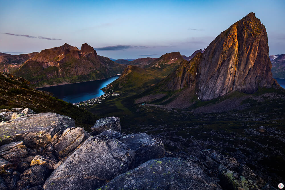 View from Hesten peak towards Segla, Senja, Northern Norway