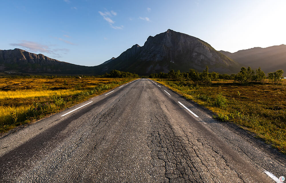 Road on Senja island, Northern Norway