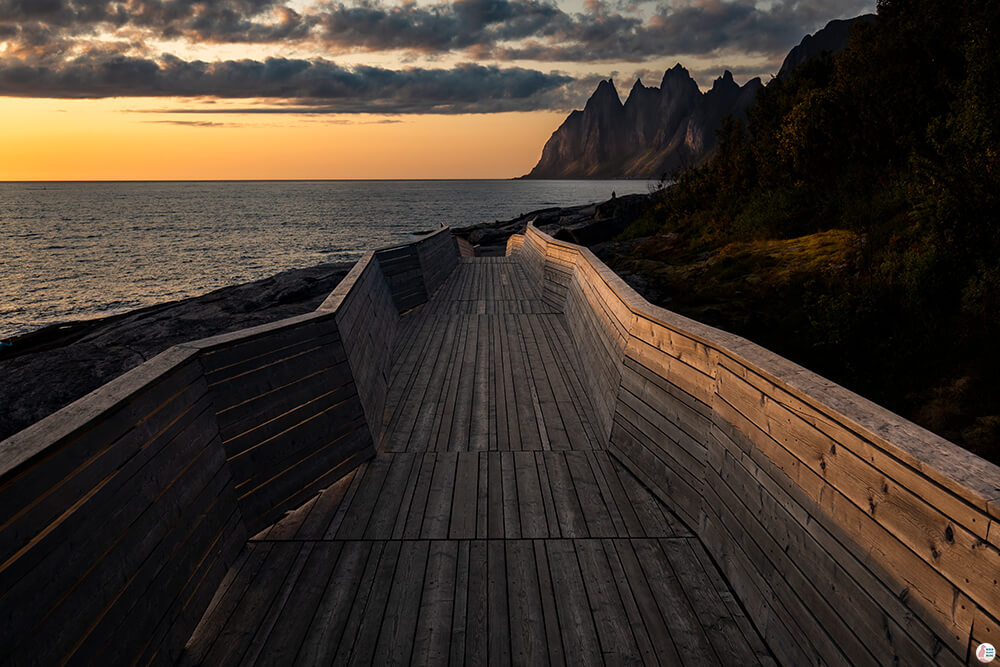 Tungeneset platform at sunset, Senja, Northern Norway