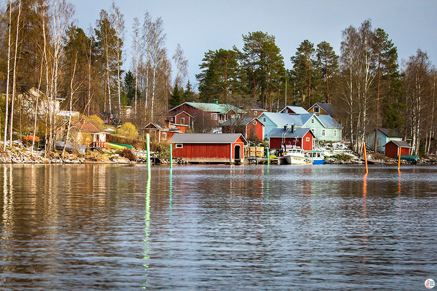 Oravi village, Saimaa Lake, Finland