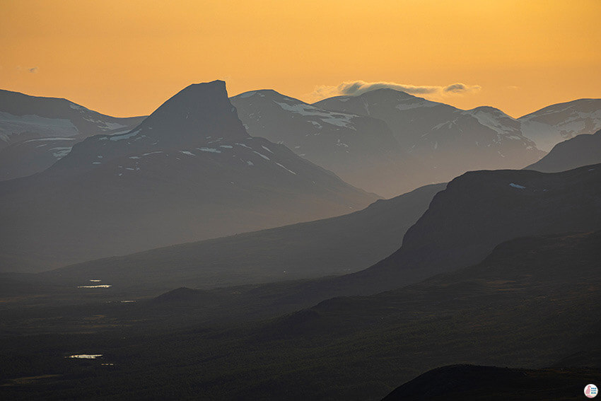 Mountain scenery from Saana hiking trail, Kilpisjärvi, Lapland, Finland