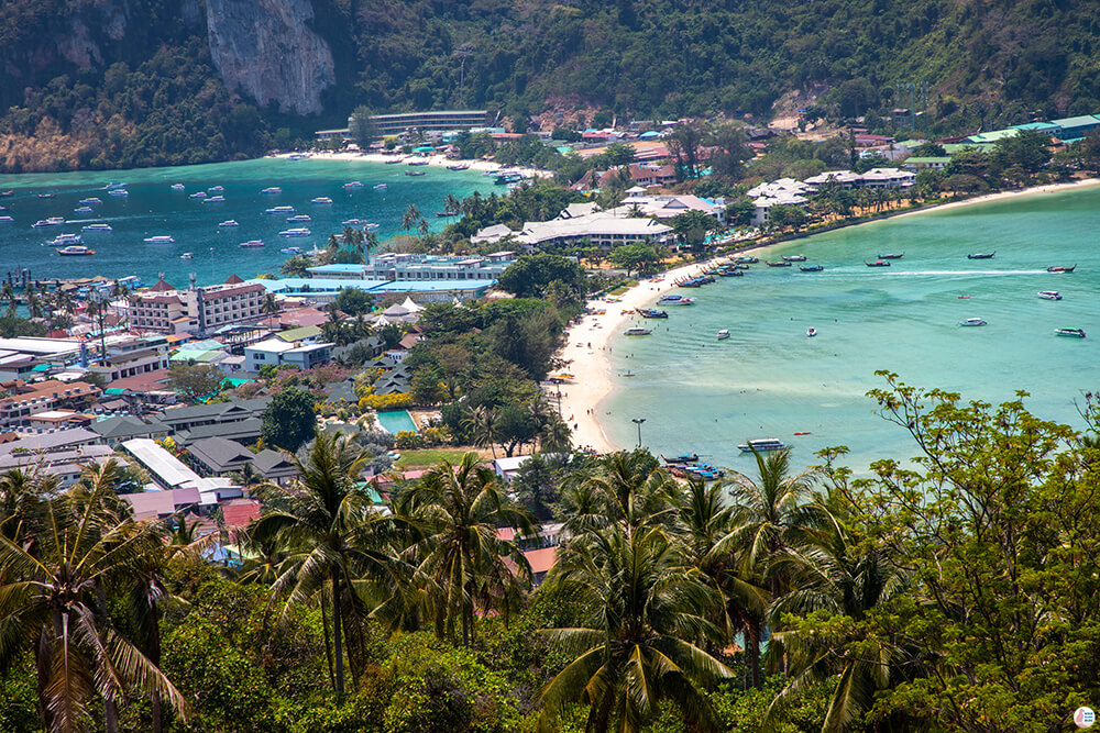 Viewpoint 2 (Top View) on Phi Phi Islands, Best Viewpoints to Hike and Photograph in Krabi, Thailand