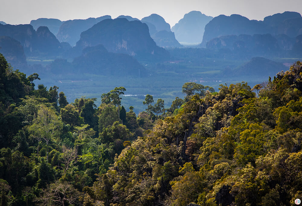 View from Tiger Cave Mountain Temple, Best Viewpoints to Hike and Photograph in Krabi, Thailand