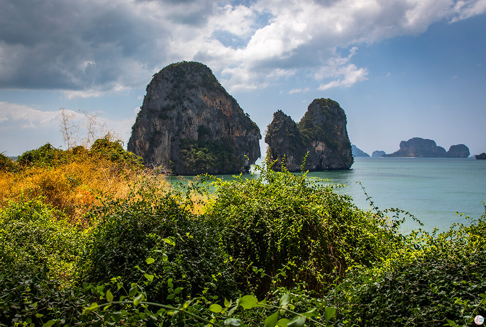 View from The Bat Cave on West Phra Nang Beach, Best Viewpoints to Hike and Photograph in Krabi, Thailand