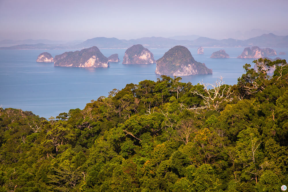 First viewpoint on Khao Ngon Nak Hiking Trail (aka Dragon Crest), Krabi, Thailand