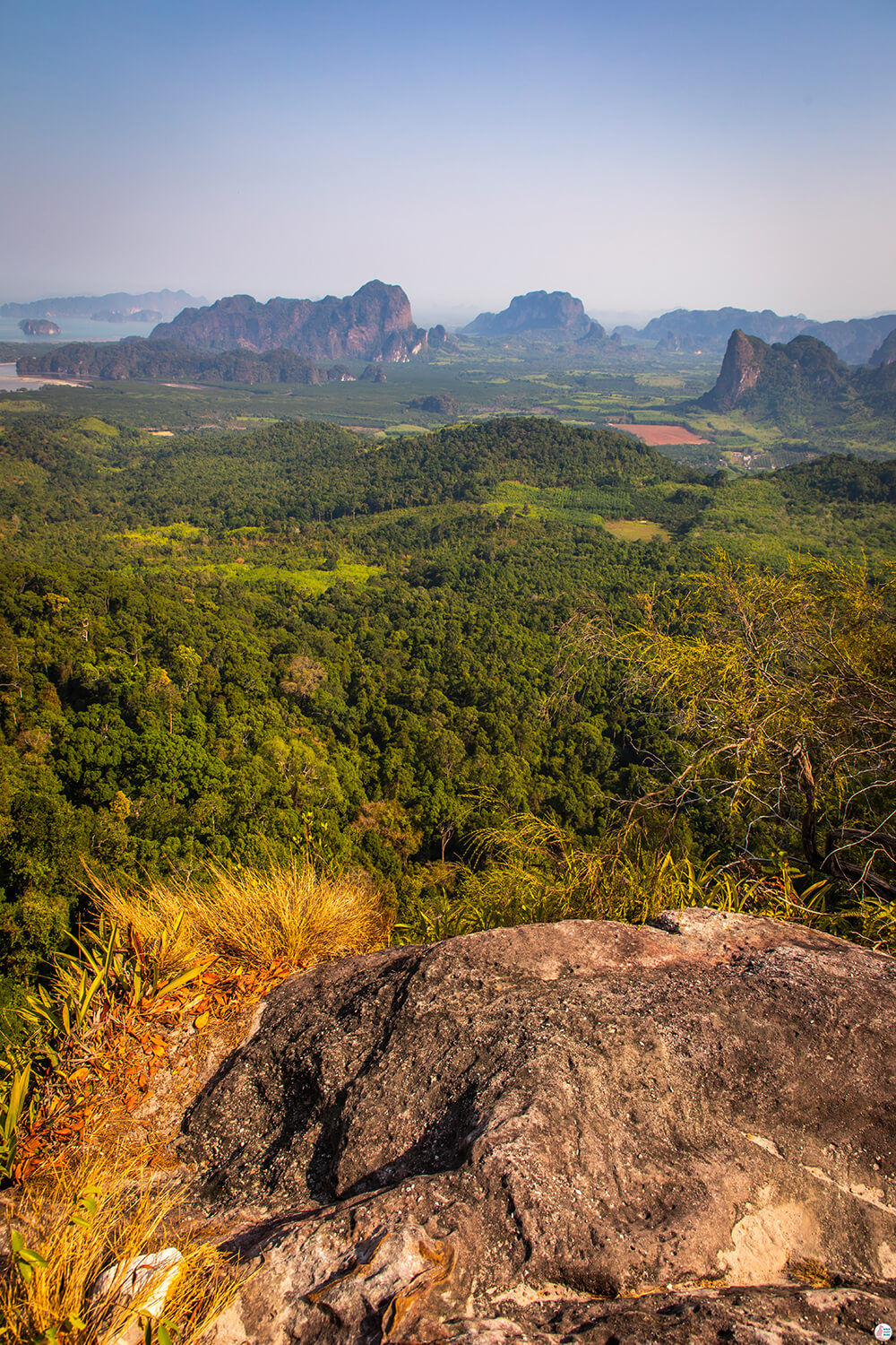 View from Khao Ngon Nak Scenic Point, Krabi, Thailand