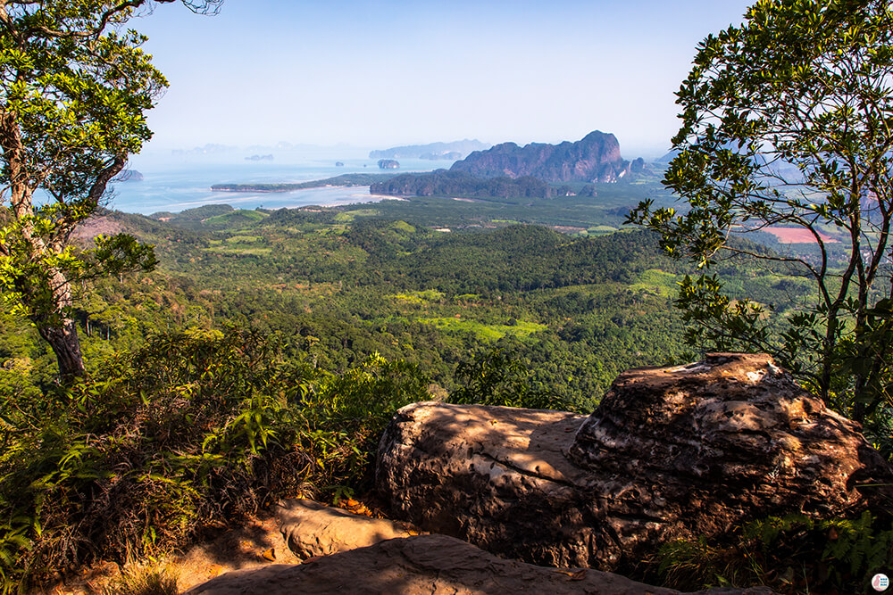 View from Khao Ngon Nak Hiking Trail (aka Dragon Crest), Krabi, Thailand