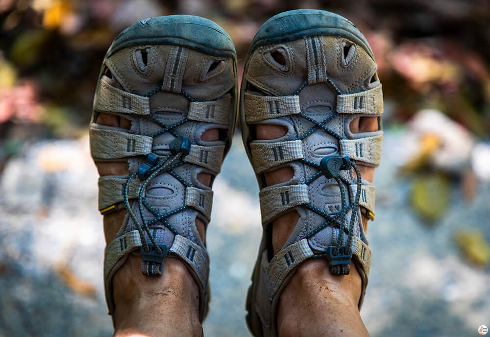 Hiking sandals for Khao Ngon Nak trail, Krabi, Thailand
