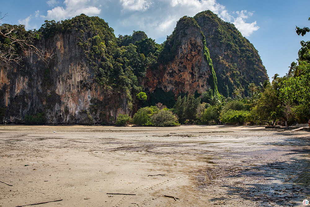 Railay East at low tide, Krabi, Thailand