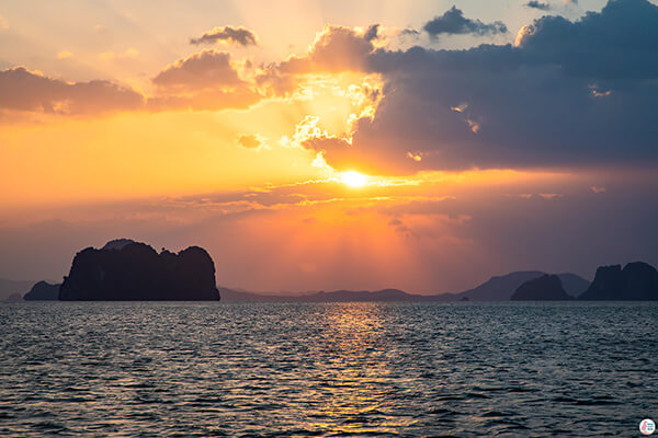 Sunset Cruise towards the Hong Islands, Krabi, Thailand
