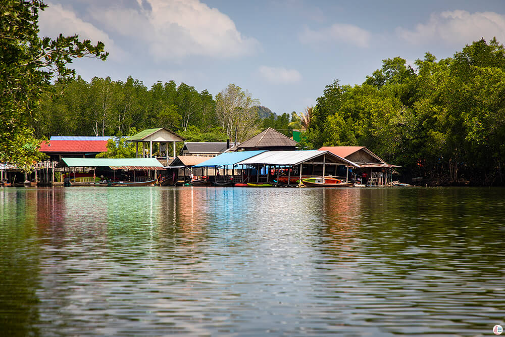 Kayaking centre at Tha Pring River in Than Bok Khorani National Park, Krabi, Thailand